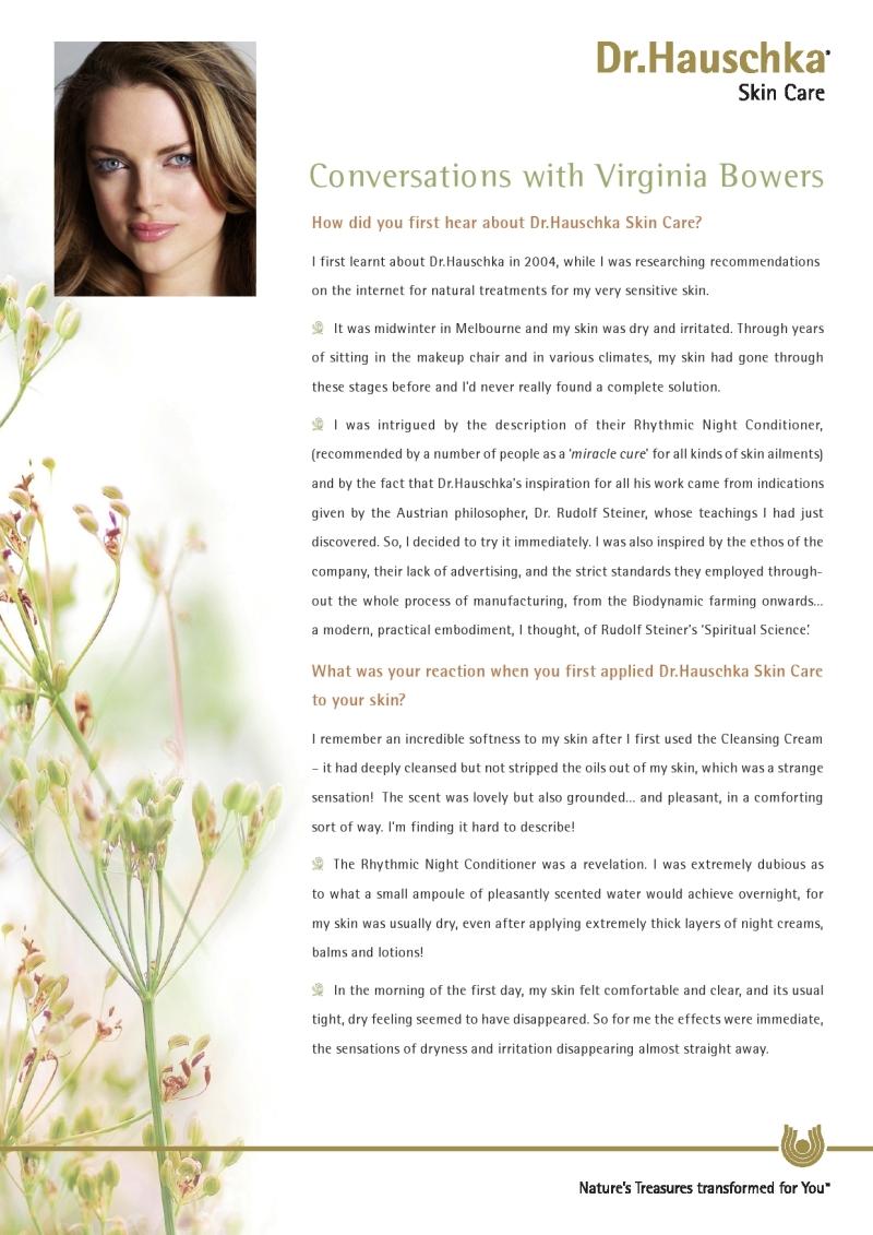 Dr Hauschka Skin Care Virginia Bowers