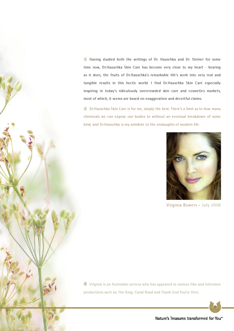 Virginia Bowers Dr Hauschka Skin Care page 2